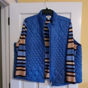 Long sleeve shirt with vest